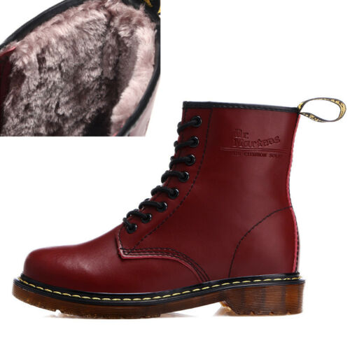 Men/'s Boots Leather Martin boots  Women/'s Winter Ankle Boots Shoes Lace Up