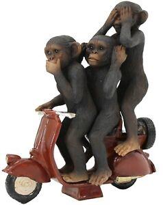 3-Wise-Monkeys-on-Scooter-Modern-Resin-Home-Ornament-See-Speak-Hear-No-Evil