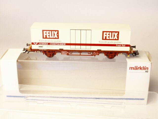 "47721 MARKLIN HO Swedish SJ Container Refer car ""FELIX"""