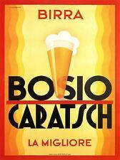 Anuncio alcohol Cerveza Bosio caratsch Italia Vintage de arte cartel impresión 777pylv