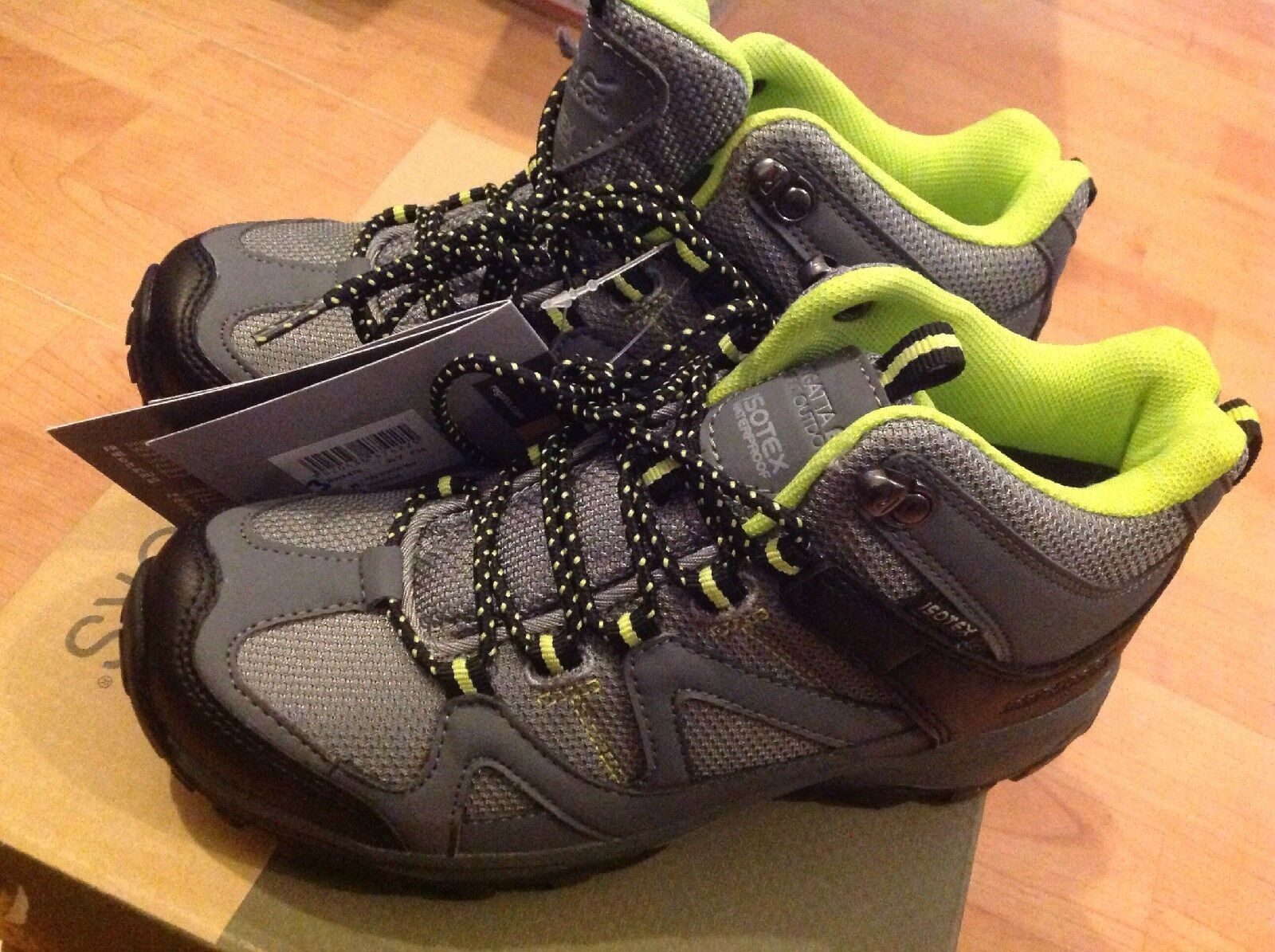 Regatta Ladies Grey lime Hi Top Trainers Size 3 New Shop Clearance RRP