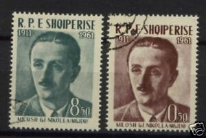 Albania-1961-SG-682-3-M-G-Nikolla-Used-Set