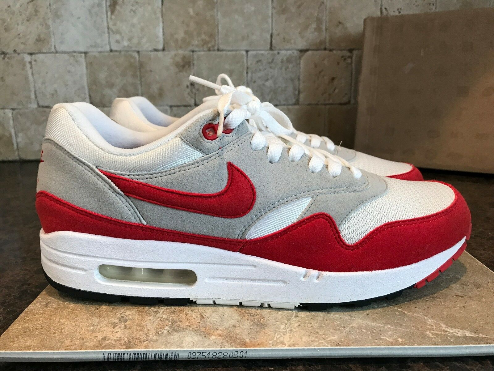 RARE NIKE 2018 AIR MAX 1 QS  MEN'S SHOES SIZE 9.5 378830 161 SPORT RED Seasonal clearance sale