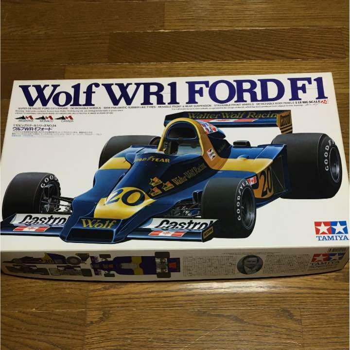 1 12 Tamiya Wolf WR 1 Ford Vintage Rare Boys Figure Car bluee From Japan F S