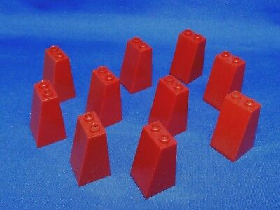 REDDISH BROWN Lot of 10 Genuine Lego Slope 75 2x2x3 Slopes Trees Friends /& More