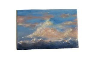 Original-Oil-Painting-Mountains-sunset-landscape-art-Artwork-Listed-By-artist