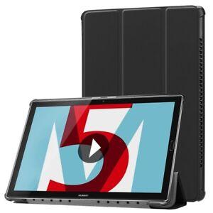 SmartCover-Noir-poche-pour-Huawei-MediaPad-M5-8-4-Housse-Couverture-Wakeup-NEUF