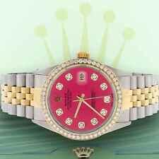 Rolex Datejust 2-Tone Gold/Steel 36mm Jubilee Watch Hot Pink Diamond Dial/Bezel