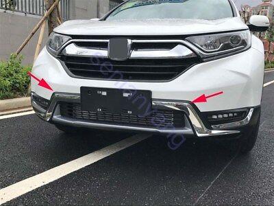 Front Grille Lower Molding Cover Trim For Honda CR-V CRV 2017-2018 ABS Chrome