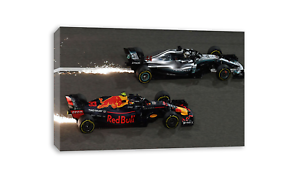 LEWIS HAMILTON F1 WORLD CHAMPION VS MAX VERSTAPPEN CANVAS WALL ART