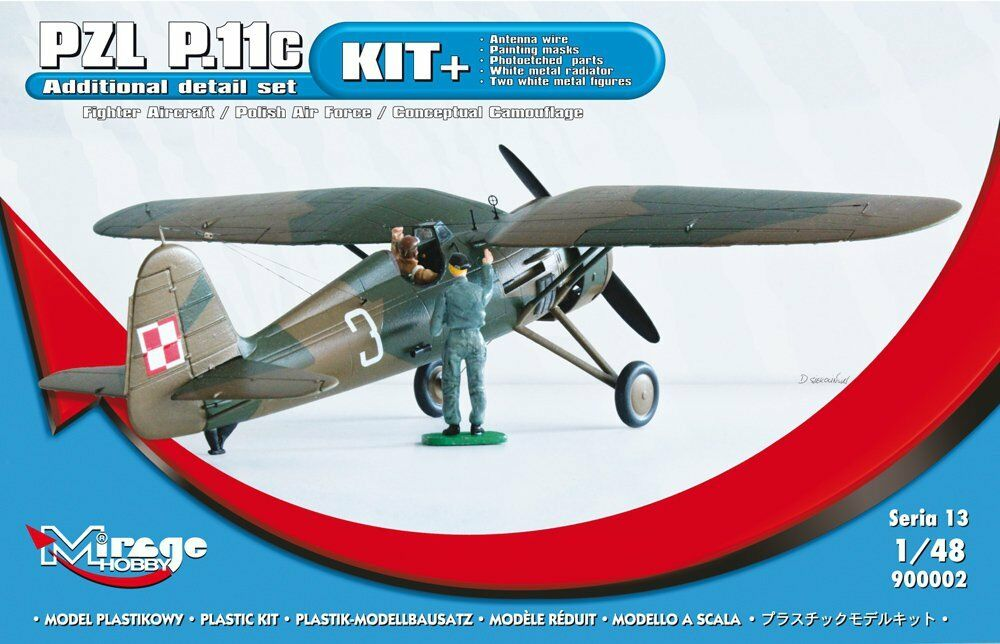 [KIT+] Fighter Aircraft PZL P-11c 'Polish AF, MIRAGE HOBBY 900002, SCALE 1 48