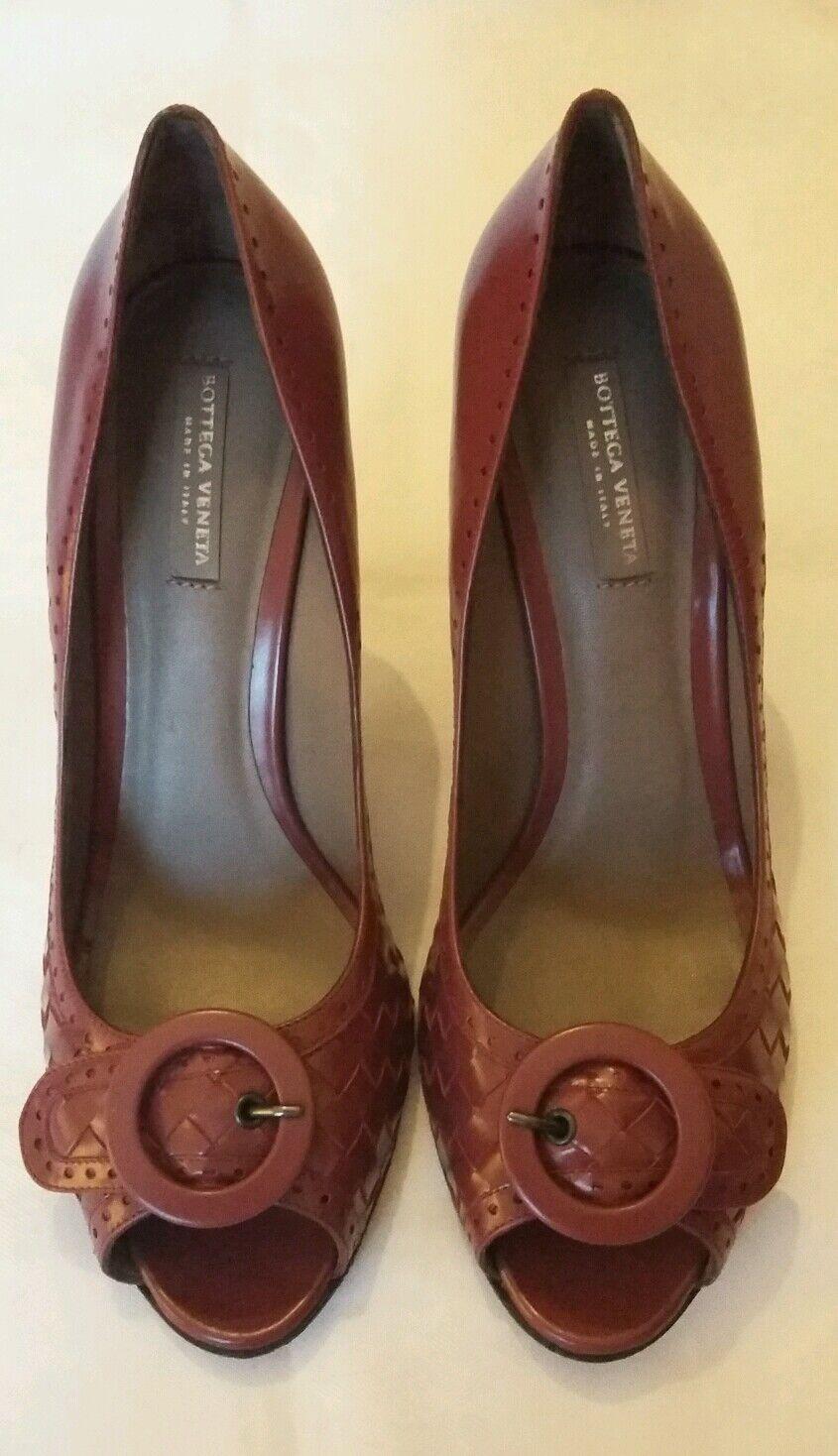 BOTTEGA VENETA Open Toe Intrecciato Pump Schuhe uk 7 eu 40 NEW  -