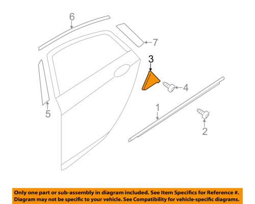 HYUNDAI OEM 11-14 Sonata Exterior-Rear-Corner Molding Right 838403S000