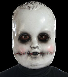 Creepy-Dead-Ghost-Doll-SMILING-SAMMIE-FACE-MASK-Cosplay-Horror-Costume-Accessory