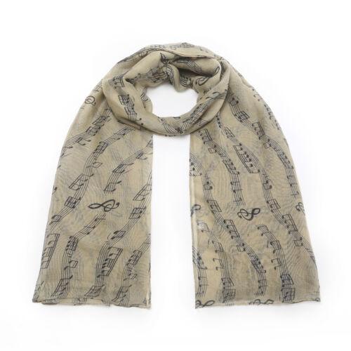 Musical Notes Classical Print Scarf  shawl Wrap Sarong Music Notes