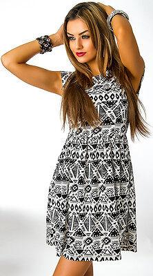 CLASSIC TRICOT Kleid Sommerkleid Minikleid schwarz/weiß  Gr. XS/S