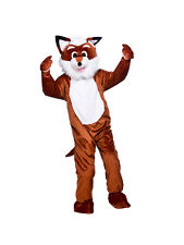 Adult Big Head Fantastic Fox Fancy Dress Mascot Costume Farm Animal Unisex BN