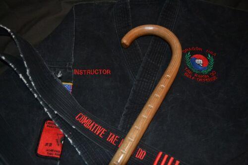 SET OF 2 CUSTOM OAK CANES-MADE IN USA COMBAT CANE SELF DEFENSE MARTIAL ARTS