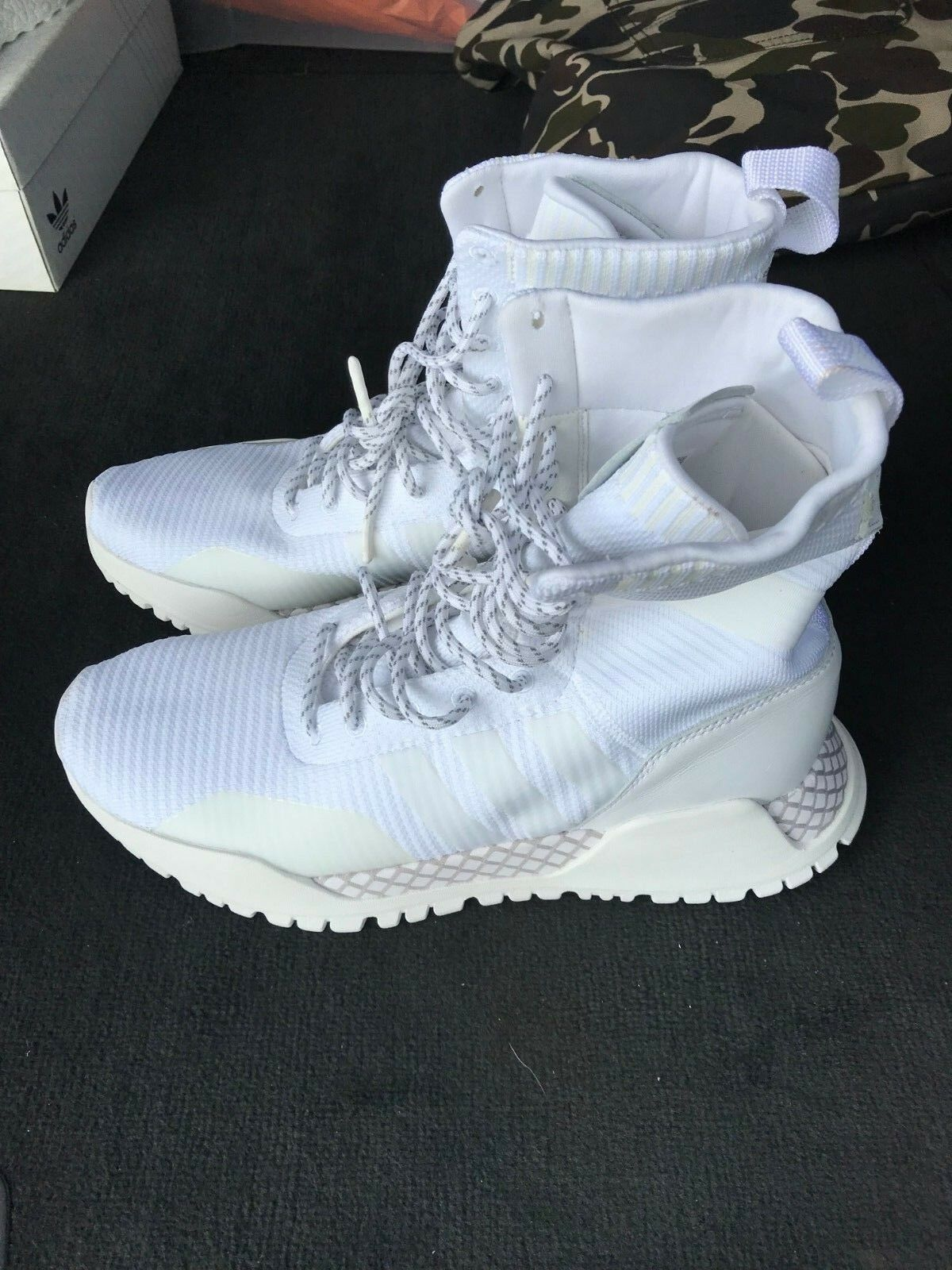 ADIDAS Originals AF 1.3 Primeknit scarpe da ginnastica scarpe da ginnastica con NUOVO con etichetta US 8.5 EU 42 | Design Accattivante  | Scolaro/Ragazze Scarpa