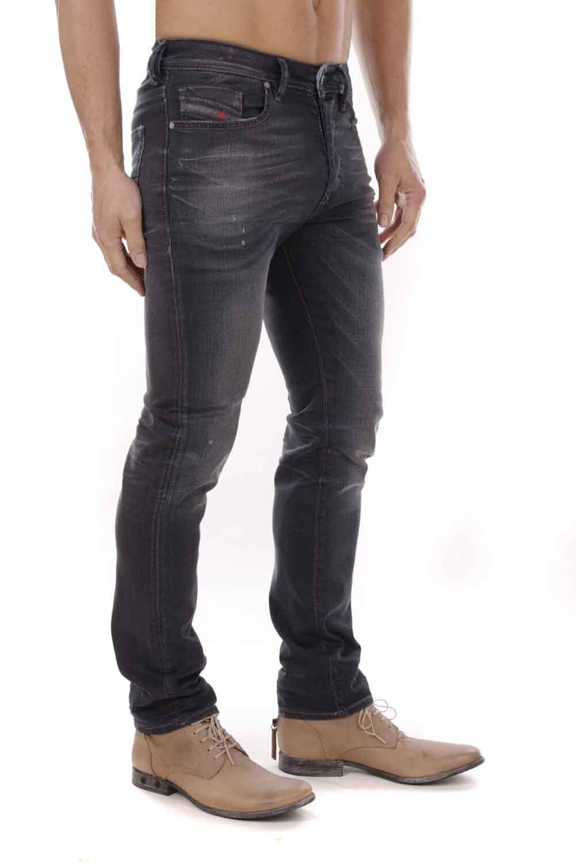 Diesel men Buster 0684P Jeans Pantaloni Aderente Affusolato