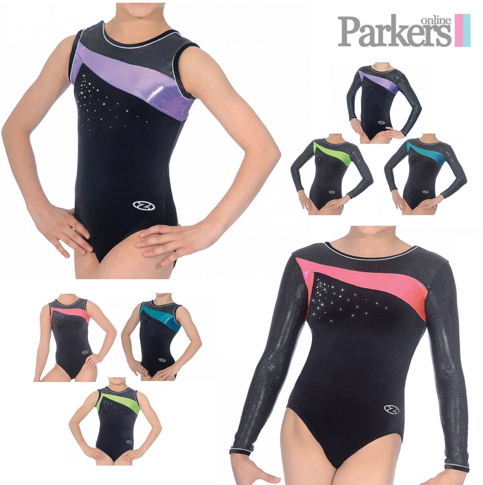 NEW ZONE ICON LONG SLEEVE SLEEVELESS LEOTARD DANCE GYMNASTICS GYM LEO SIZE 24-38