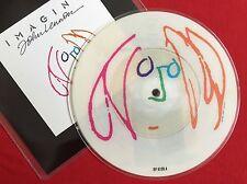 """JOHN LENNON (Beatles) -Imagine- Rare UK Picture Disc 7"""" (Vinyl Record)"""