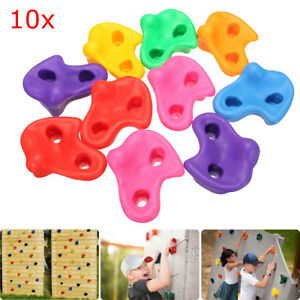 10pcs-Plastic-Colorful-Textured-Climbing-Rock-Wall-Stones-Kids-Assorted-Holds