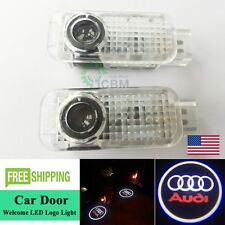 2x LED Laser Projector Door Step Goast Shadow Lights Logo For Audi A3 A4 A6 Q7