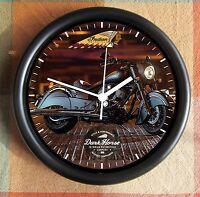 Indian Motorcycle Dark Horse 10 Inch Resin Wall Clock