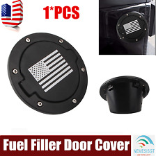 Fuel Filler Cover USA Flag Logo Gas Tank cap for 07-17 Jeep Wrangler Unlimited