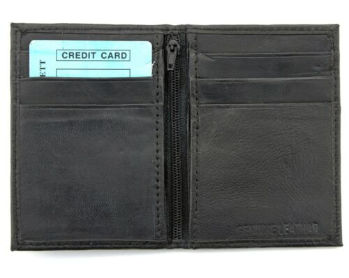 Mens Slim Thin Genuine Leather Bifold Id Wallet Money Credit Card Holder Window