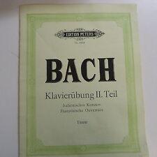 piano BACH Klavieruebung 2. Teil, Italienisches Konzert, Franzoesische Ouvertuer