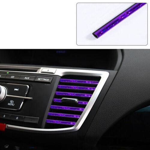 10 Pcs Car Accessories AUTO Colorful Air Conditioner Air Outlet Decoration Strip