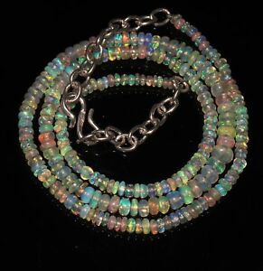 38Ctw-1Necklace-2to4-5mm17-034-Beads-Natural-Genuine-Ethiopian-Welo-Fire-Opal-T1404