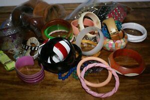 Lot Of Bangle Metal Stretch Bracelets