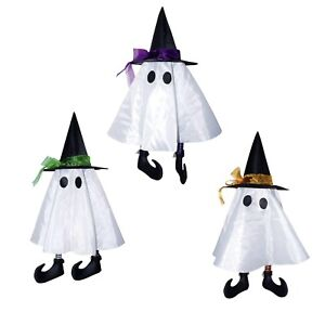 24 Cute Hanging Ghost Sheet Witch Hat Shoes Halloween Home Yard