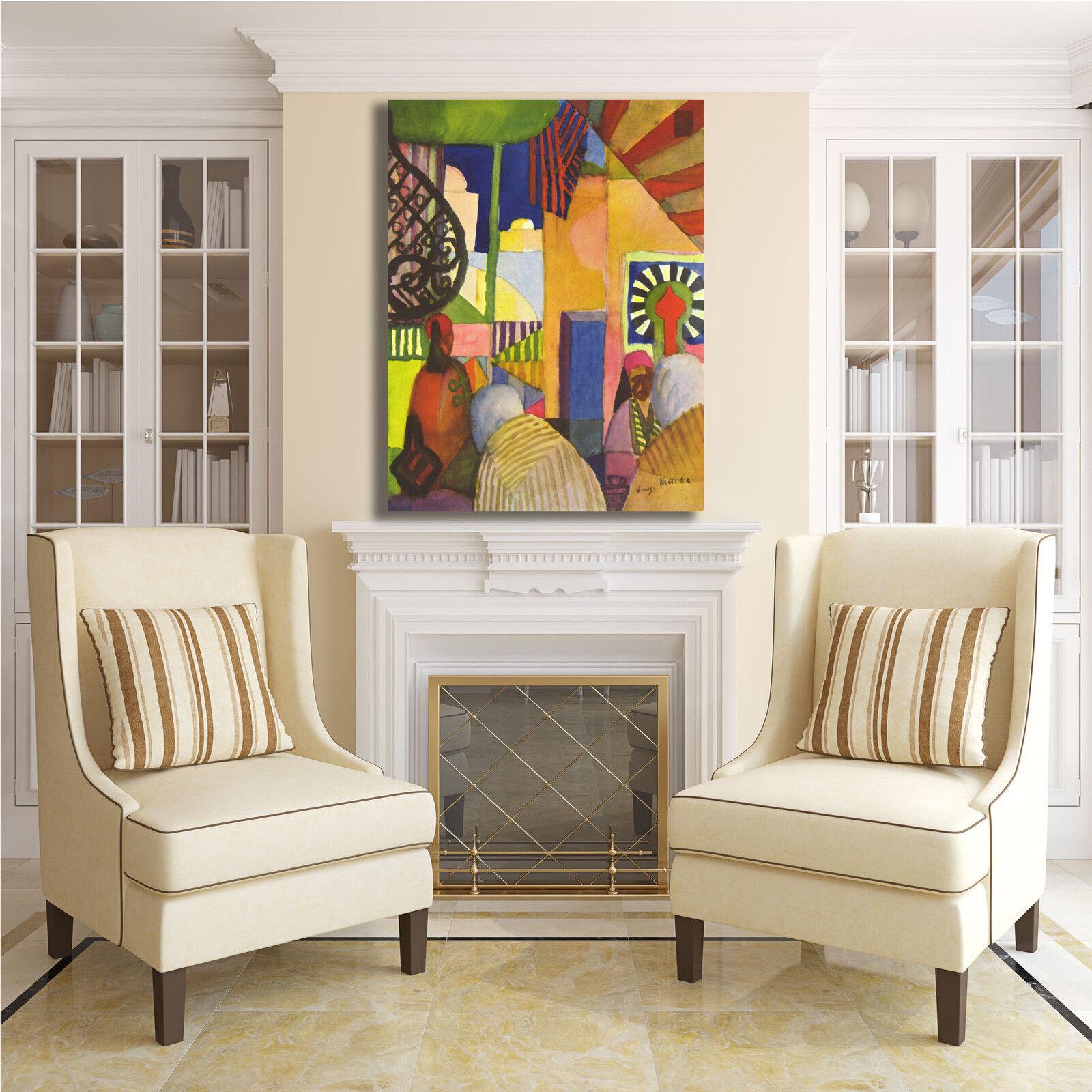 Macke il bazar design quadro stampa tela dipinto o telaio arRouge o dipinto casa a50ca8
