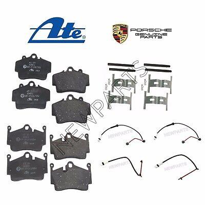 Rear Disc Brake Pads /& Hardware Kit /& Wear Sensors KIT For Porsche Cayman
