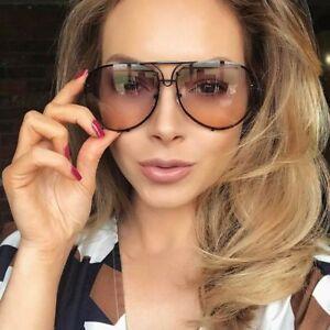 Aviator-Super-Poshe-GRADIENT-Twirl-Metal-Design-Frames-Women-Sunglasses-BLACK