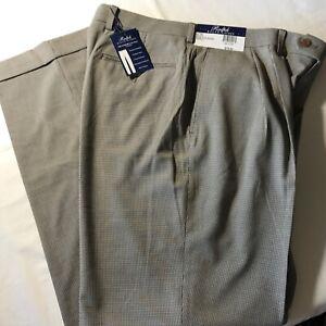480f15a7 Details about Ralph Lauren Light Brown Mens 34x32 Dress Flex Pleated Cuffed  Pants $79.50 New