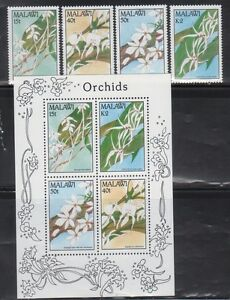 Malawi 578-81A Orchids Mint NH