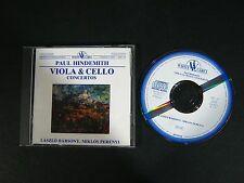 CD: Paul Hindemith Viola & Cello Concertos Laszlo Barsony Miklos Perenyi