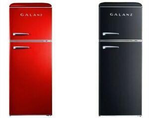Galanz-Retro-10-0-cu-ft-Top-Freezer-Refrigerator-Frost-Free-Dual-Door