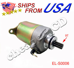 Details about 12V 9 TOOTH Starter Motor GY6 125cc 150cc Scooter ATV Moped  Chinese