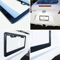 Genuine Real Carbon Fiber License Plate Tag Frame Car Suv Truck 12.5 X 6.25