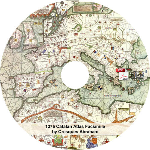 6 Map Leaves on CD 1375 Catalan Atlas by Cresques Abraham