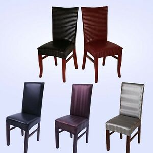 PU Leather Universal Dining Chairs Cover Wedding Banquet Hotel Seat Chair Cover