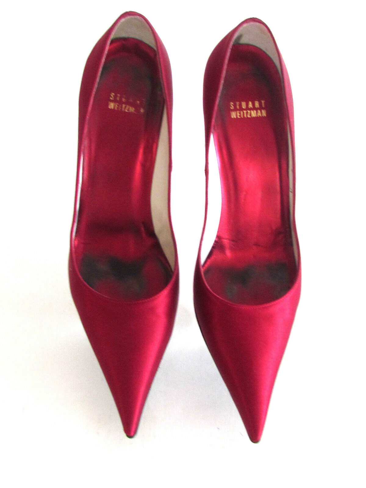 Women's shoes Evening shoes Designer shoes Ruby Red Satin Satin Satin Swarovsky Crystal 9.M d1b656