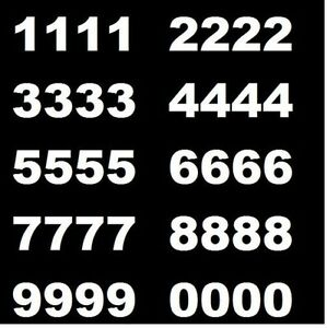 Lot of 20 White,Black Vinyl Street Address,Mailbox Number Decal Stickers TIMES N