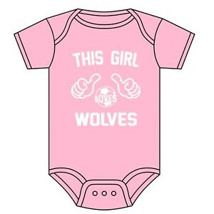 WOLVES Football Personalised Baby//Child T-Shirt